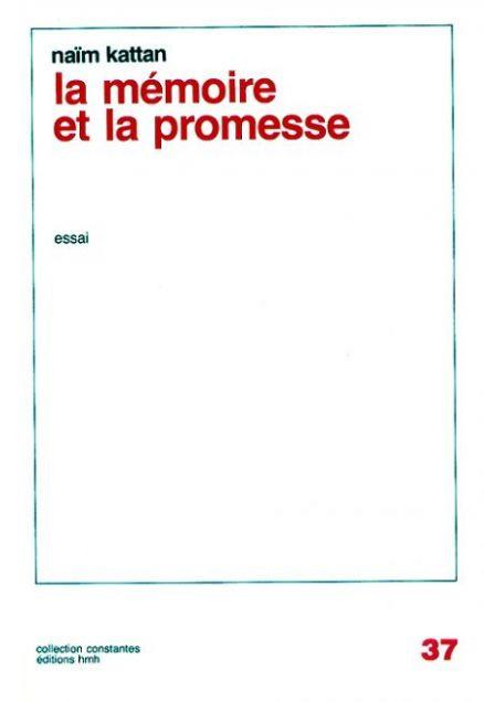 Couverture de La mémoire et la promesse