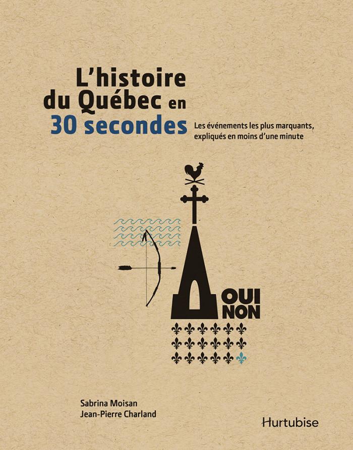 Couverture de L'Histoire du Québec en 30 secondes