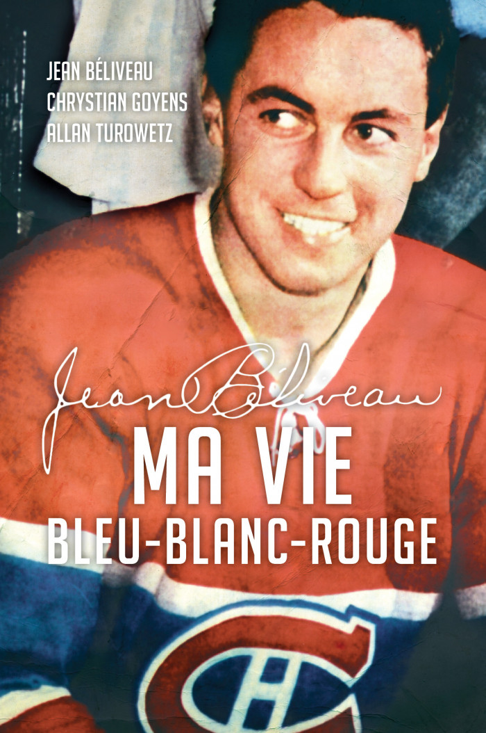 Couverture de Jean Béliveau : ma vie bleu-blanc-rouge (compact)
