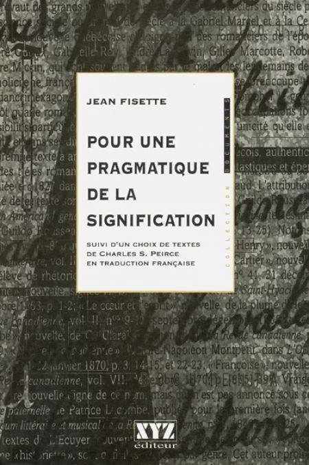 Couverture de Pour une pragmatique de la signification