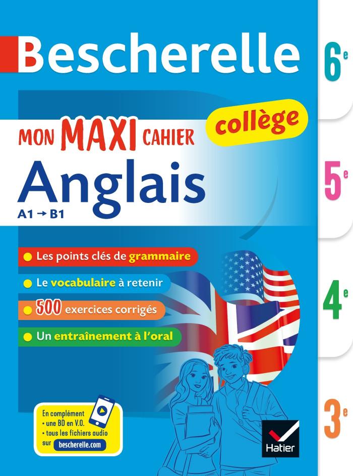 Couverture de Bescherelle Mon maxi cahier d'anglais 6e, 5e, 4e, 3e