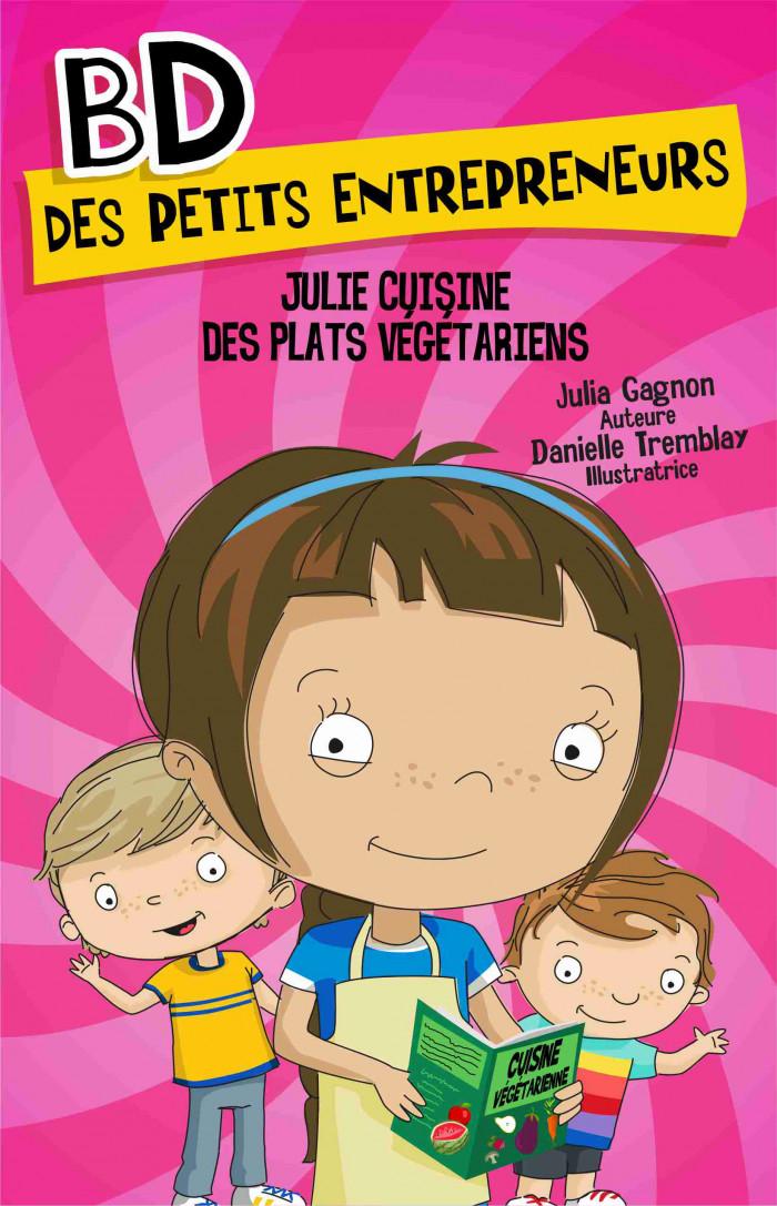 Couverture de Julie cuisine des plats végétariens