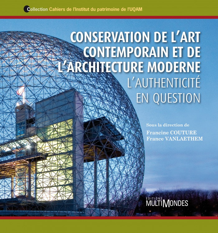 Couverture de Conservation de l'art contemporain et de l'architecture moderne