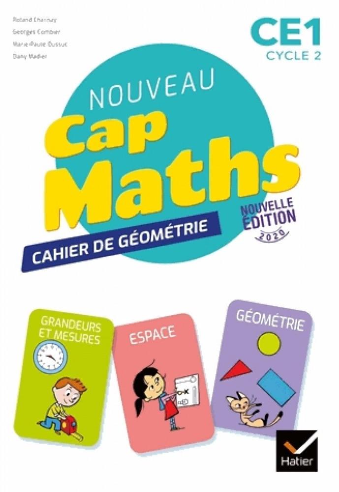 Couverture de Cap Maths - Cahier de géométrie, CE1