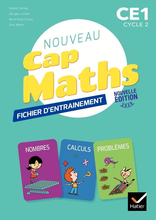 Couverture de Cap Maths - Fichier d'entrainement + Cahier de géométrie, CE1