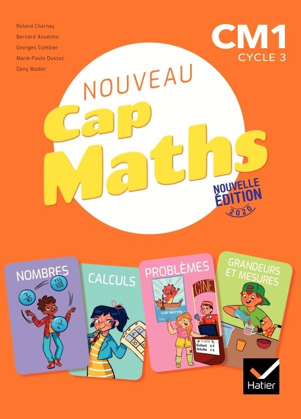 Couverture de Cap Maths - Manuel + Cahier géométrie + Dico Maths, CM1