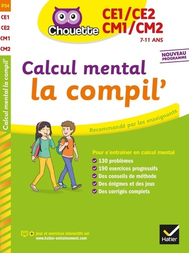 Couverture de Chouette - Calcul mental la compil', CE1/CE2/CM1/CM2