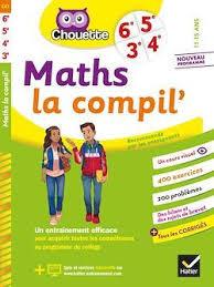 Couverture de Chouette : Maths la compil', 6<sup>e</sup> à la 3<sup>e</sup>