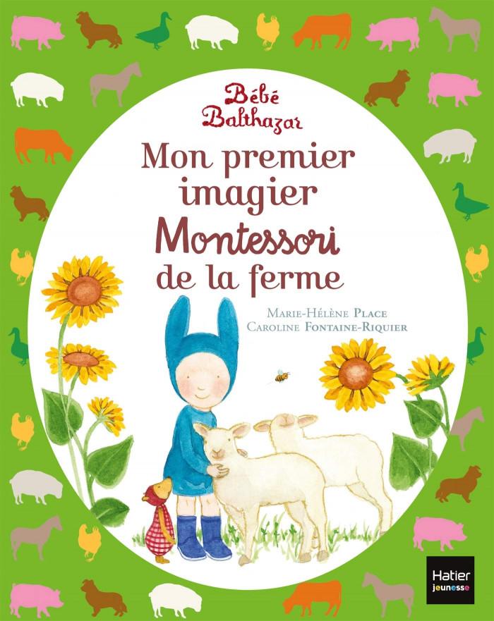 Couverture de Mon premier imagier Montessori de la ferme