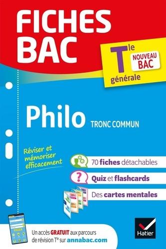 Couverture de Fiches BAC : Philosophie Tronc commun, Tle