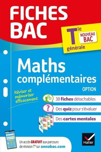 Couverture de Fiches BAC : Maths complémentaires option, Tle