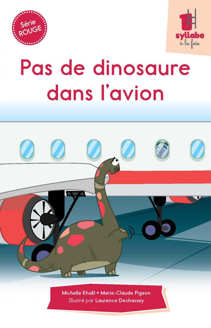 Couverture de Pas de dinosaure dans l'avion - Série rouge