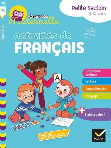 Couverture de Chouette Maternelle : Activités de français, PS