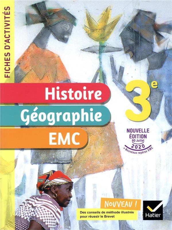 Couverture de Fiches d'activités : Histoire-Géographie-EMC, 3e