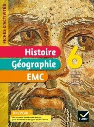 Couverture de Fiches d'activités : Histoire-Géographie-EMC, 6e