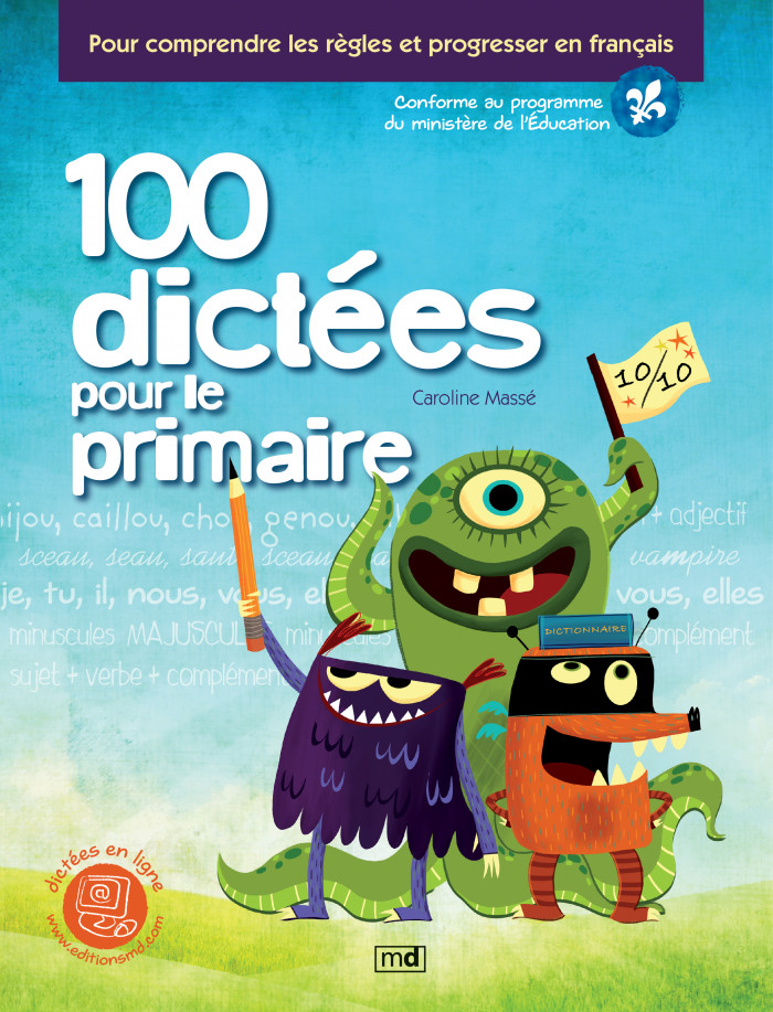 Couverture de 100 dictées pour le primaire